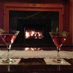 Cocktails before dinner.