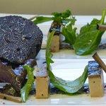 Truffe et foie gras de canard en Opéra