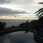 Frangipani Villa at Stonefield- Plunge Pool Sunset