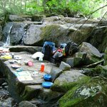 Canoe trip : a feast on the rocks by a waterfall awaits