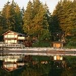 Beautiful beachfront resort on Quadra Island.