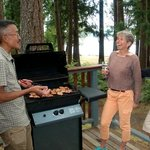 Beachfront Cabins all have gas BBQs and picnic tables.