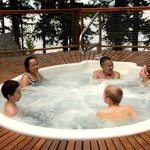 Relax in the outdoor hot tub open year around.