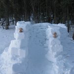 Snow House--we built this! : )