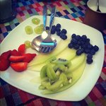 Always fresh fruits for breakfast
