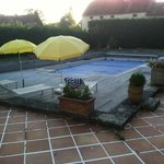 Pool with cover.