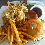 Fried Onion Bar B Q Burger