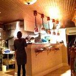 open kitchen on first floor