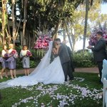 Our wedding in the Mariposa Garden
