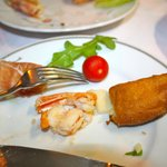 fried shrimp with cheese appetizer---deeeelish!