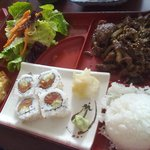 Bulgogi Bento with Sushi