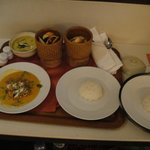 Room Service! Wow the curries sooo yummy!