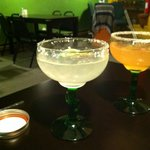 House Margarita - $4.99, Strawberry Basil Margarita - $6.99