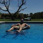 En la piscina !