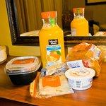 Nosso café da manhã comprado no Walmart