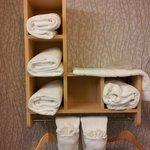 Towel shelving