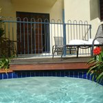 adjoining pool with room