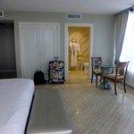Hotel room to Bathroom