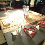the tapas romantic dinner setup