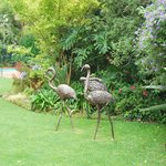 Bronze sculptures in the garden