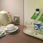 Complimentary tea, coffee and mineral water