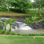 Waterfall view from villa 717