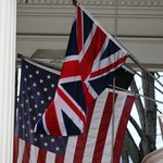 flag flown for British groom