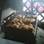 tasty BBQ chicken cooking