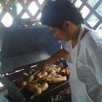 Puerto Morelos chicken cook bbq