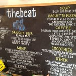 the chalkboard with menu etc