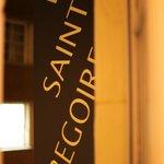The hotel sign Le Saint Gregoire