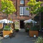 Our sunny courtyard - perfect for alfresco dining