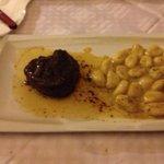 Beef steak in truffle sauce