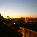 Dusk of the vatican from the rooftop terrace