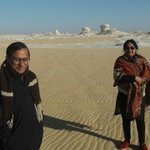 It was a cold December morning in the western Sahara White Desert