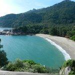 The remote and beautiful beach at Mai pen Rai