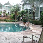 0ne of 2 pools and garden area