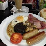 All day breakfast served!! Can't beat a full fry up, washed down with a Carame