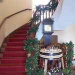 Reception areas decorated for xmas