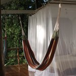 Bed in tree top bungalow