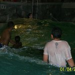 Riding the waves in the wave pool