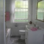 Rose Room Bathroom with separate bath and shower, heated towel rail,