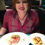 Charlotte enjoying supper