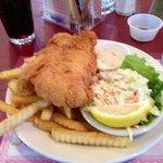 big portion of freshly fried fish!