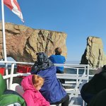 perce rock from the boat