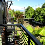 Balcony at Inn at Northrup Station, Portland, Oregon