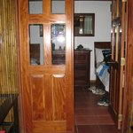 Authentic wood-panelled bedroom doors!