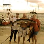 Back on the beach with Barracuda and Permit fish
