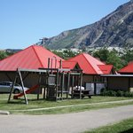 playground area and guest cabins