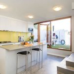 Ground Floor Kitchen Bifold Doors Lead to the Courtyard with Woodfired Oven  Barbecue